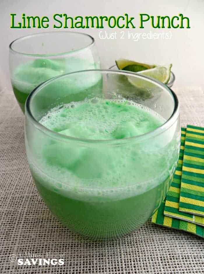 2 Ingredient Lime Shamrock Punch