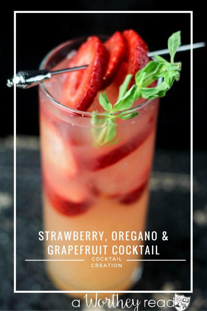 Strawberry, Oregano & Grapefruit Cocktail