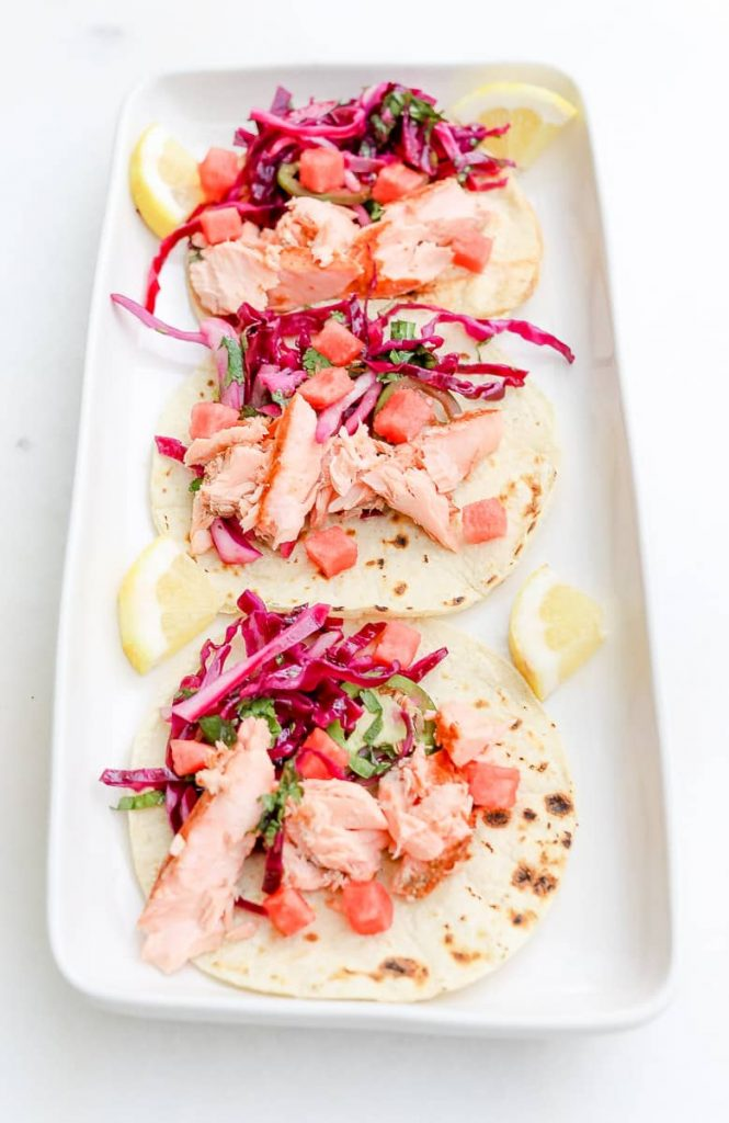 Ingredients needed for Salmon Tacos