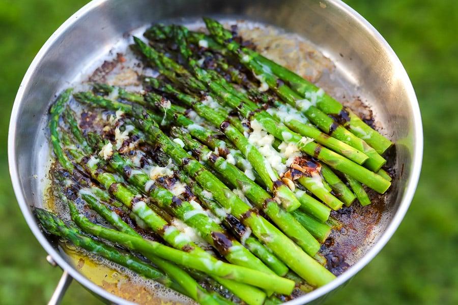 Savory Asparagus + Balsamic Parmesan