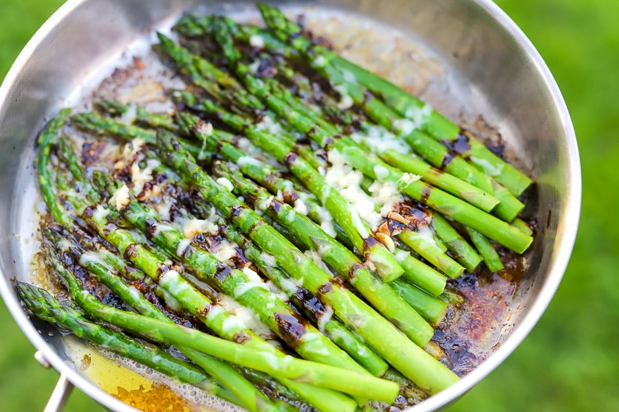 Take your grilling to another level with grilled asparagus. Our Savory Asparagus + Balsamic Parmesan is a delicious side dish, perfect for summertime cookouts or holiday dinners.