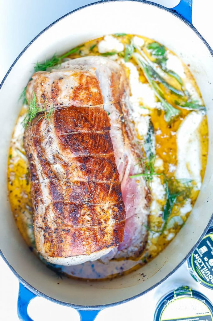 Get ready for the holidays with this delicious pork recipe. Our Oven Pork Loin recipe made with buttermilk and cream is tender, juicy and a holiday recipe your guests will love.