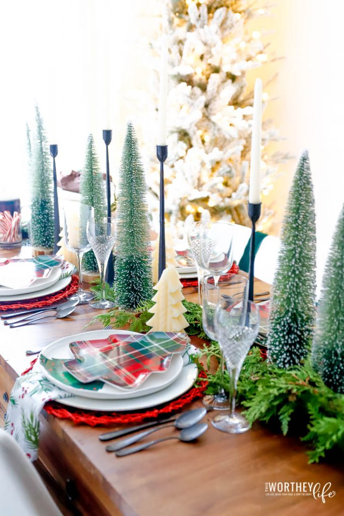 Christmas Tree Tablescape
