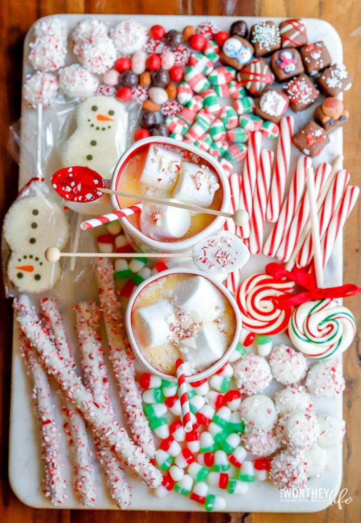 Peppermint White Hot Chocolate Board idea
