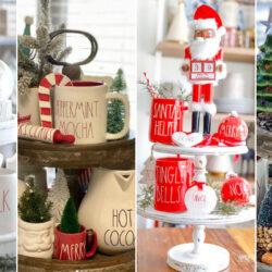 39 Rae Dunn Tiered Tray Christmas Ideas