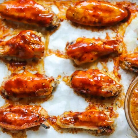 Honey Barbecue Wings Recipe Baked In The Oven Recipe