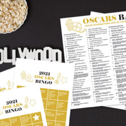 Printable Oscars Bingo Game