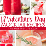 roundup of mocktails for Valentine's Day