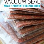 Vacuum Seal Meat