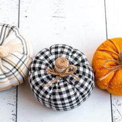 How to DIY Fabric Pumpkins