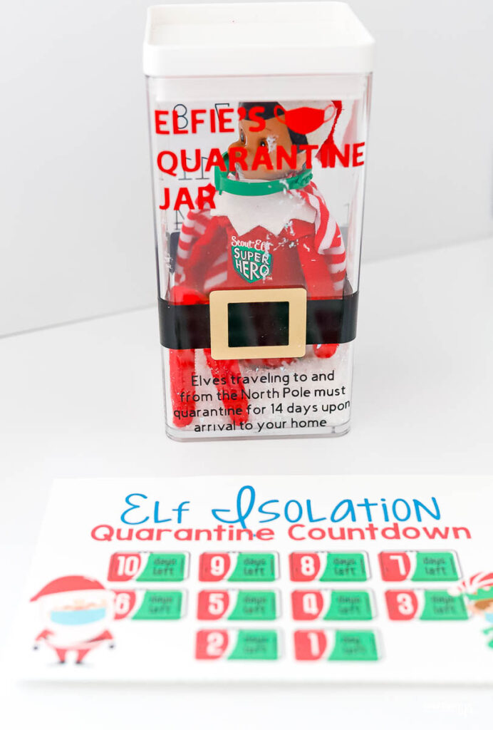 Elf quarantine in a jar