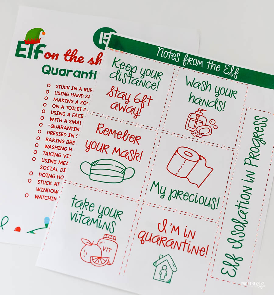 free printables for elf