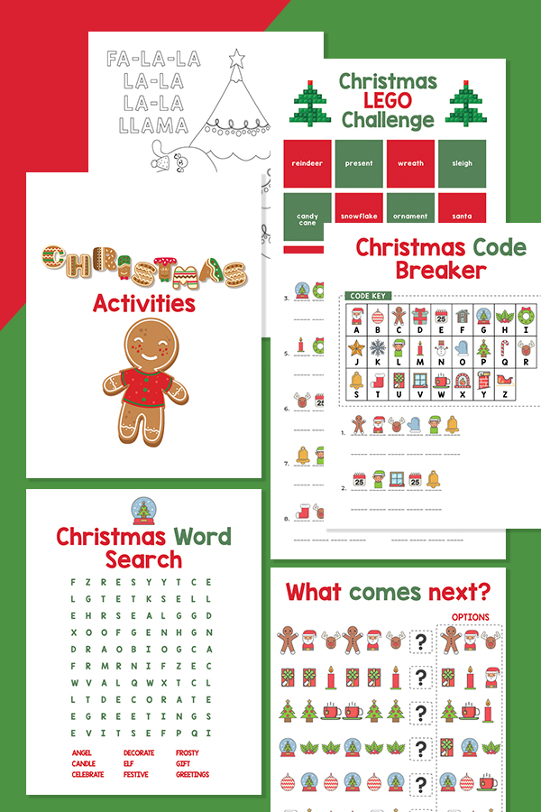 Christmas Activities for Kids printable