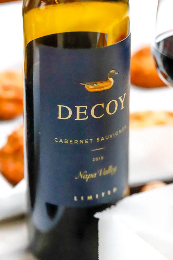 a bottle of Decoy Wine