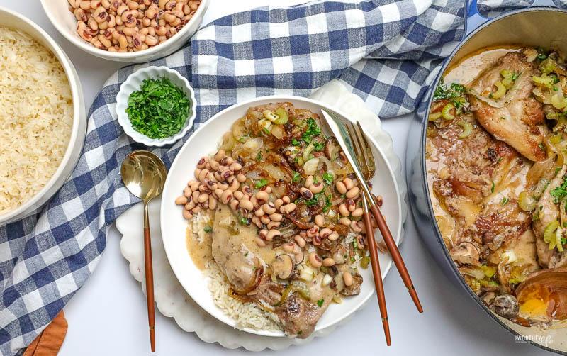 Braised Smothered Pork + Black-Eyed Peas