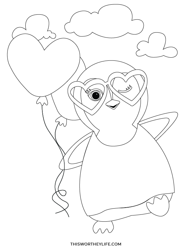 free valentine's day coloring sheets for kids