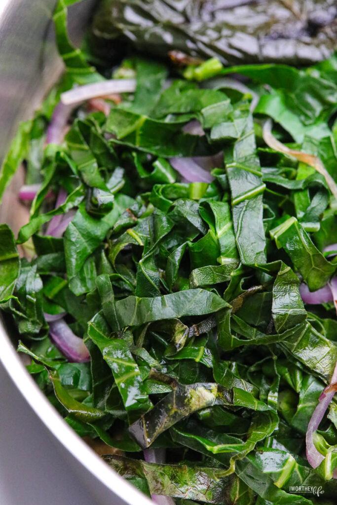 fresh veggies in the pan