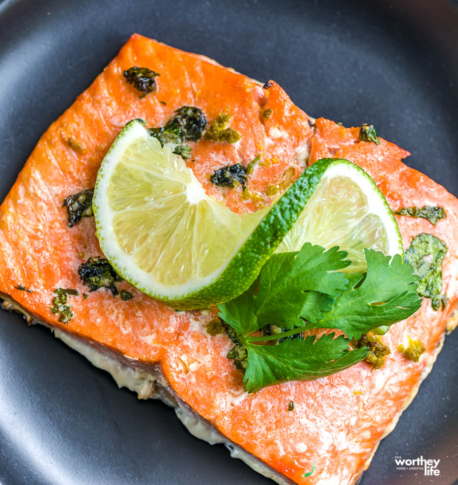 Air Fryer Salmon Recipe with Cilantro Lime