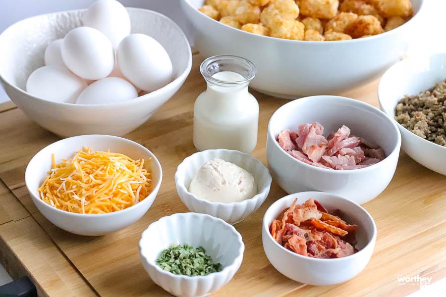ingredients to make overnight breakfast casserole