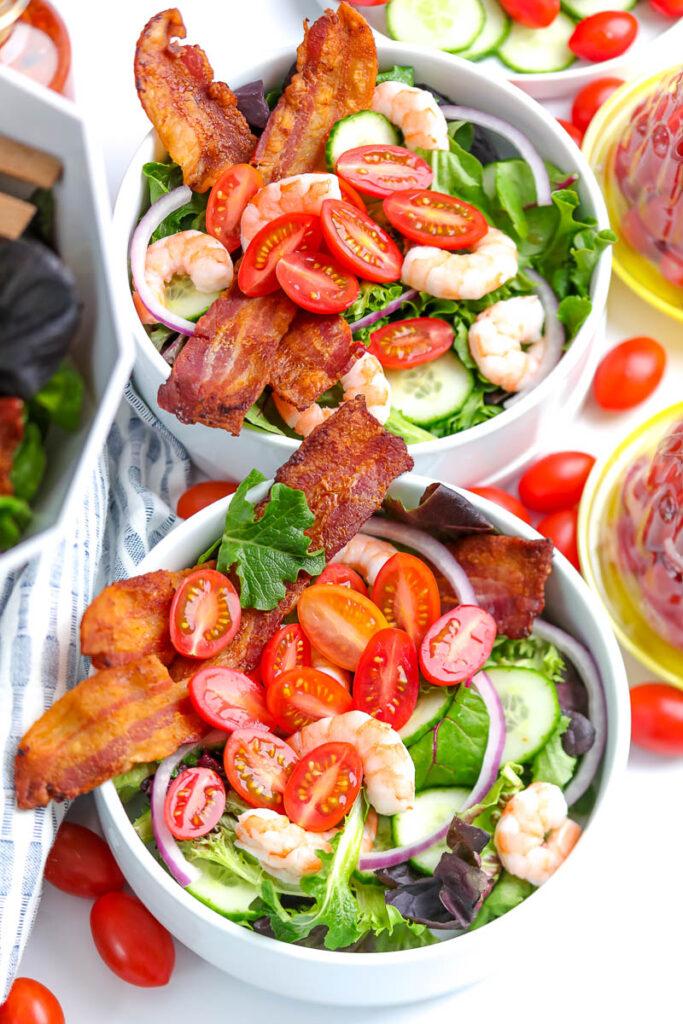 Grilled Lime Honey Shrimp & Tomato Salad