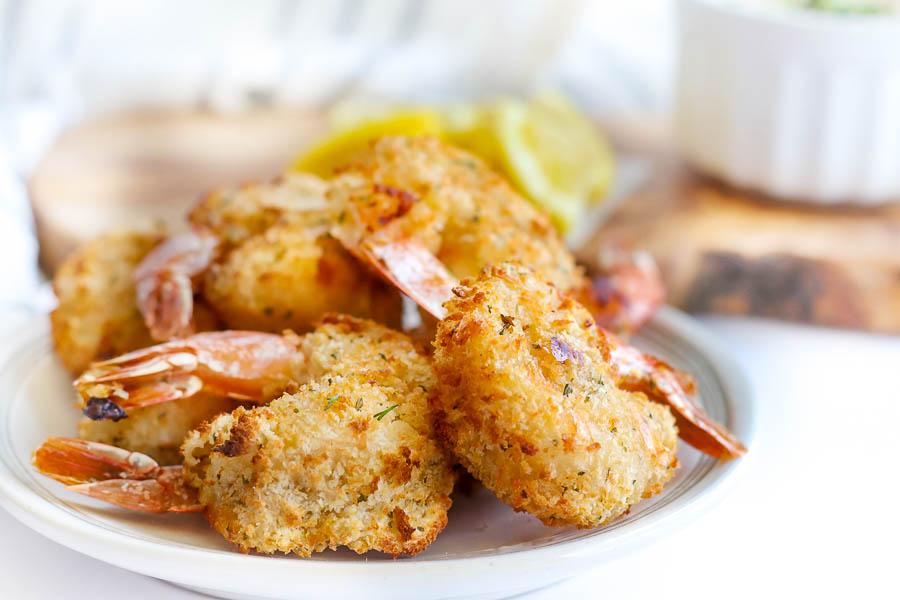 fried shrimp on a platter