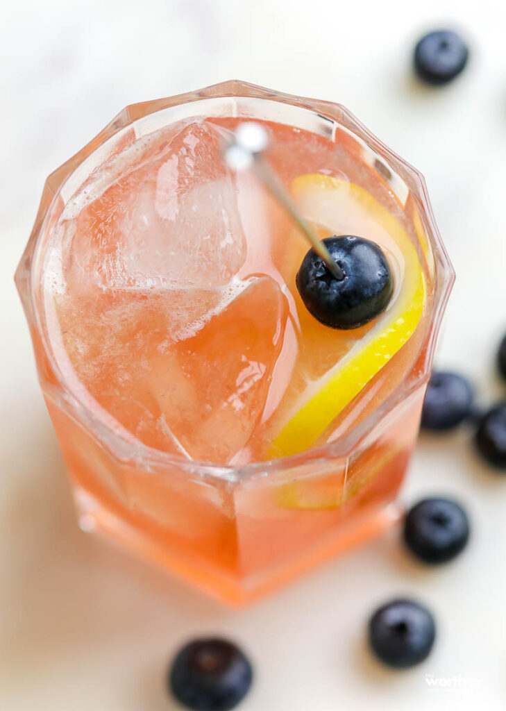 Blueberry Sweet-n-Sour Rye Cocktail