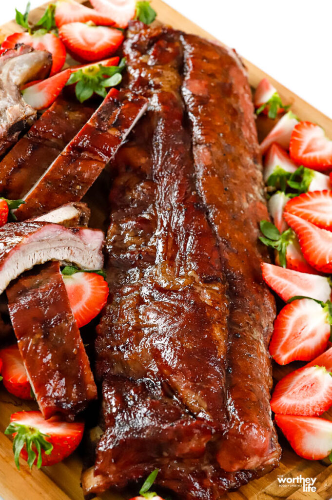 Sticky Strawberry Baby Back Ribs