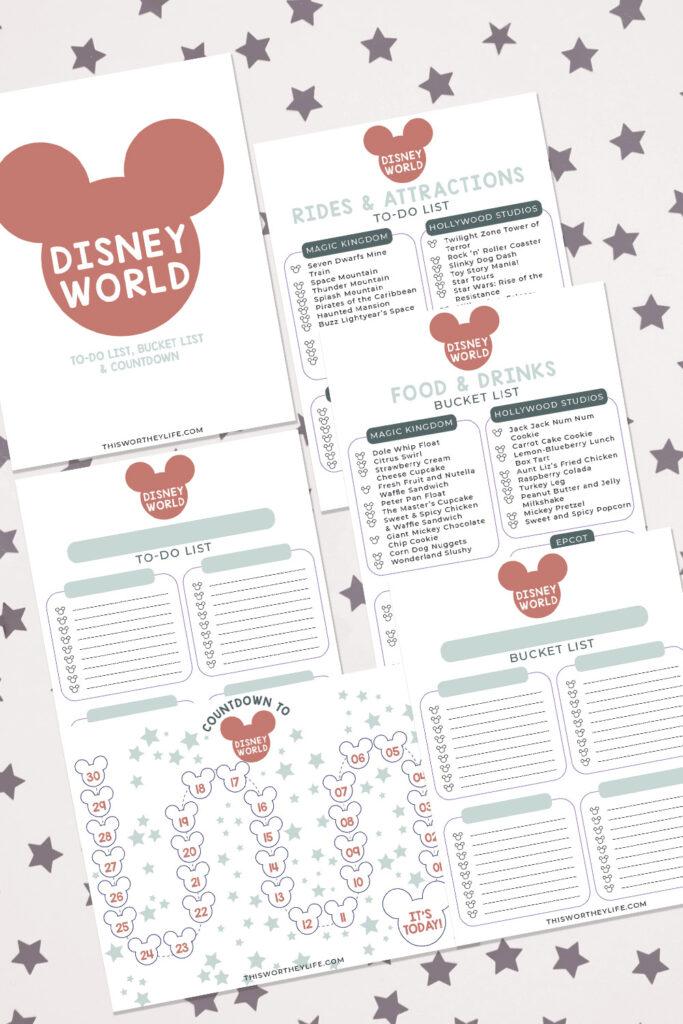 free Disney World Planning Printables