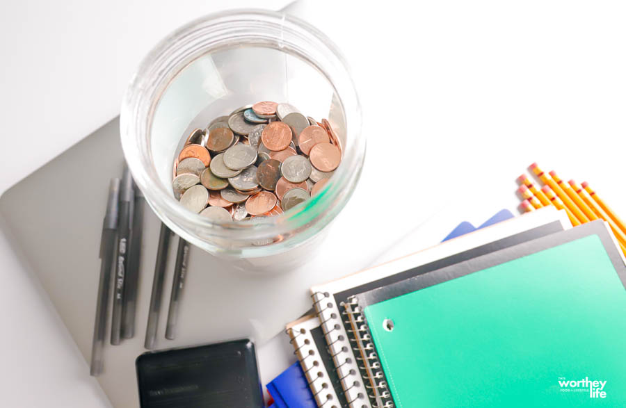 Saving Coins To Use For School Supplies