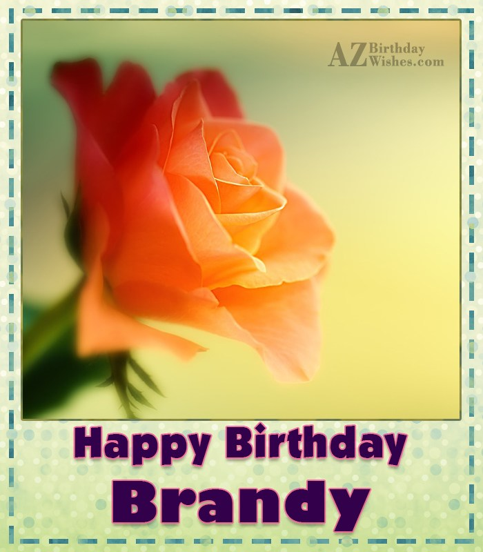 Happy Birthday Brandy