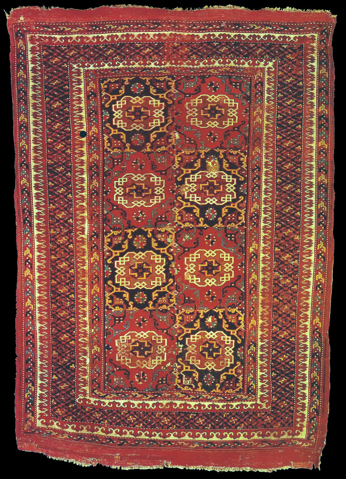 A Turkish Rug With The Small Quot Holbein Quot Pattern 16th