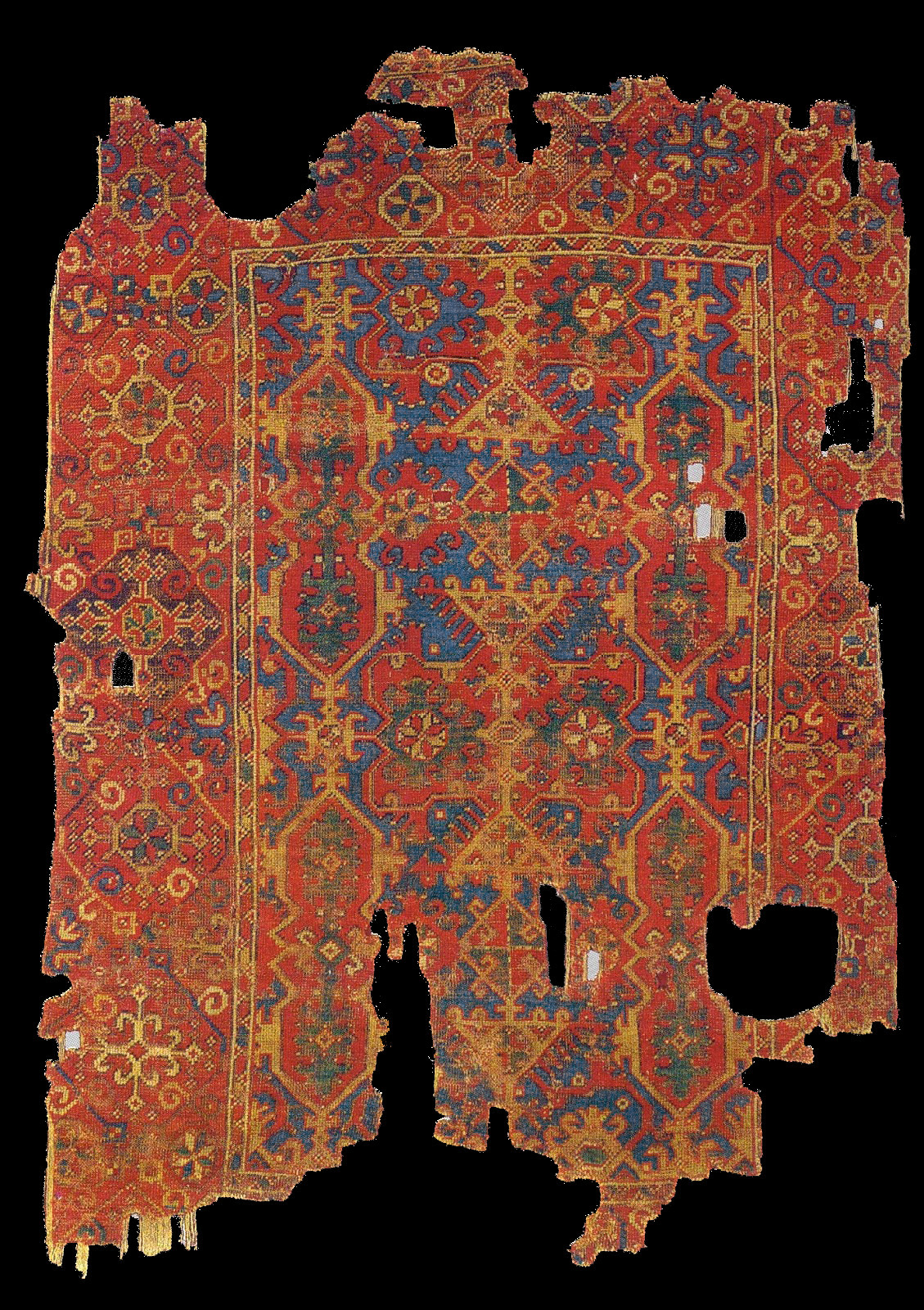 A Blue Ground Quot Lotto Quot Rug Anatolia Late 17th Century