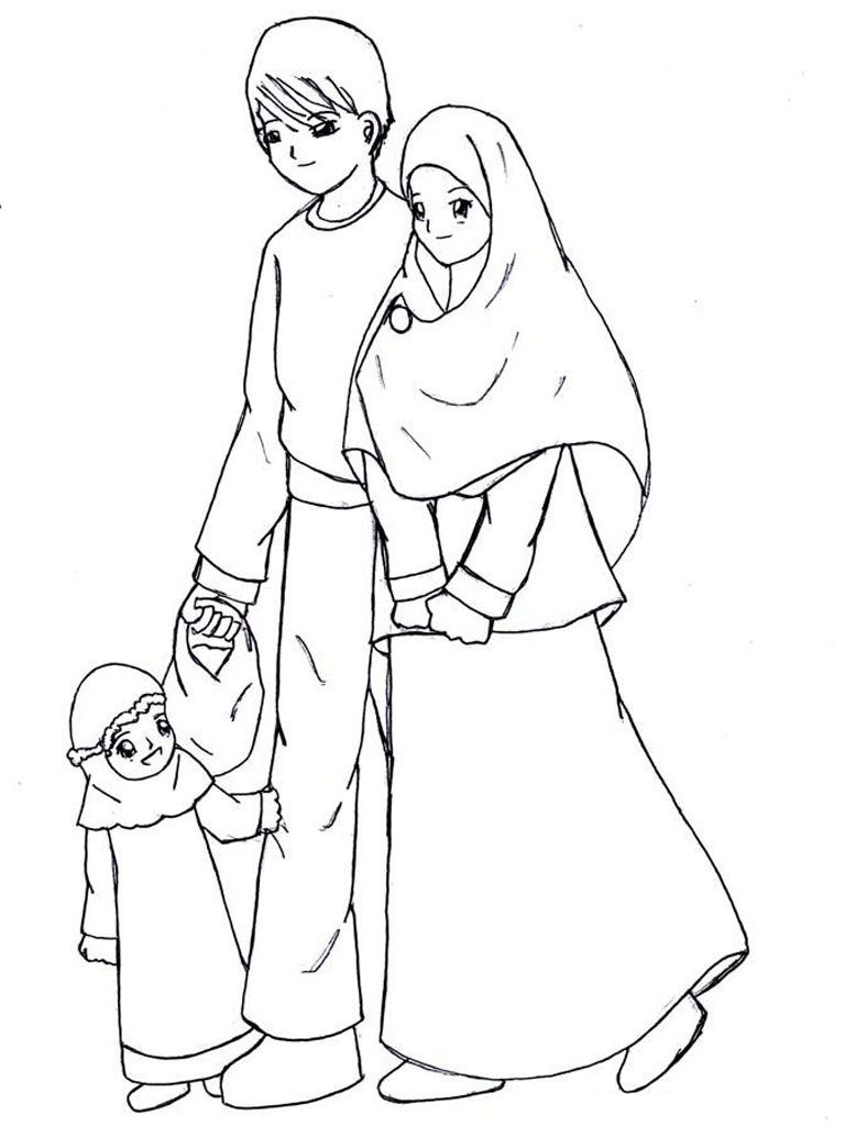 Mewarnai Gambar Contoh Keluarga Sakinah Azhan Co