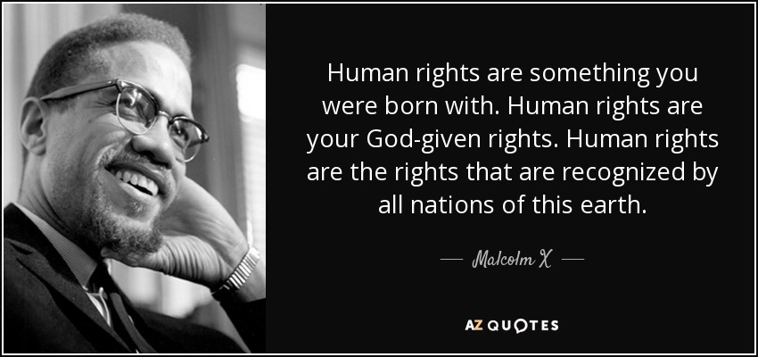 Malcolm X Quote Human Rights Are Something You Were Born