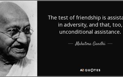 Gandhi Quotes Friendship