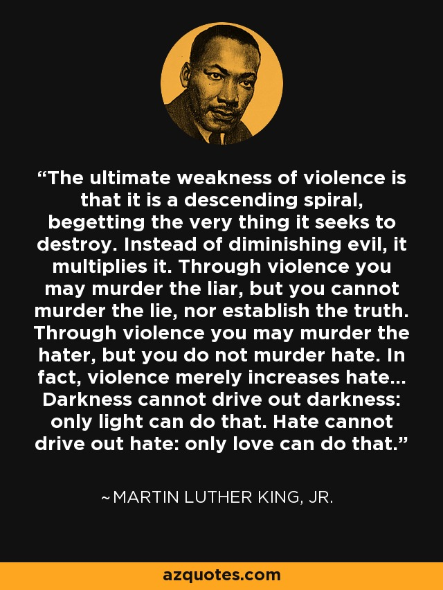 Martin Luther King Jr Quote The Ultimate Weakness Of