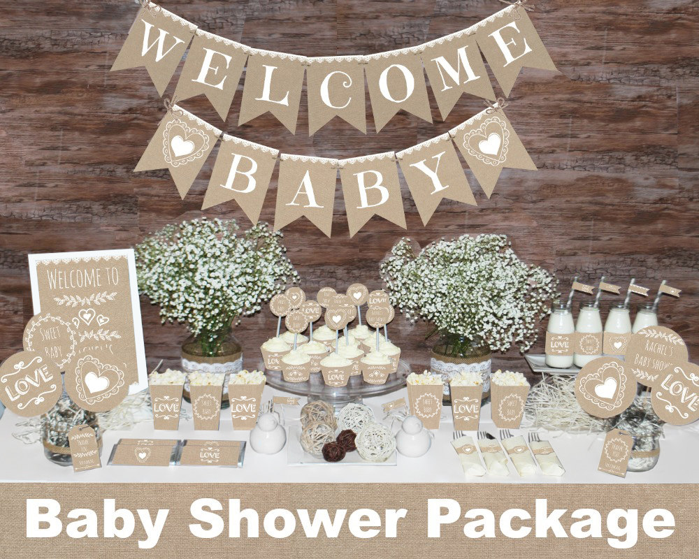 Yellow And Brown Baby Shower