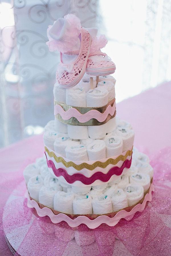 Grey Shower Baby Yellow Cake And