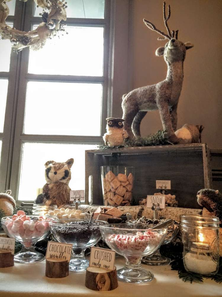 Wintery Woodland Animal Baby Shower - Themes