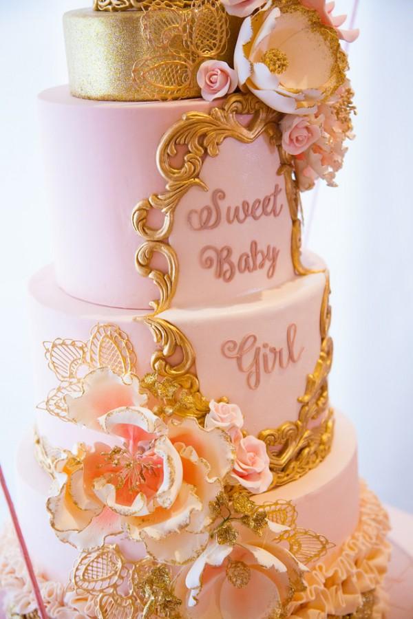 Girl Boss Baby Cake