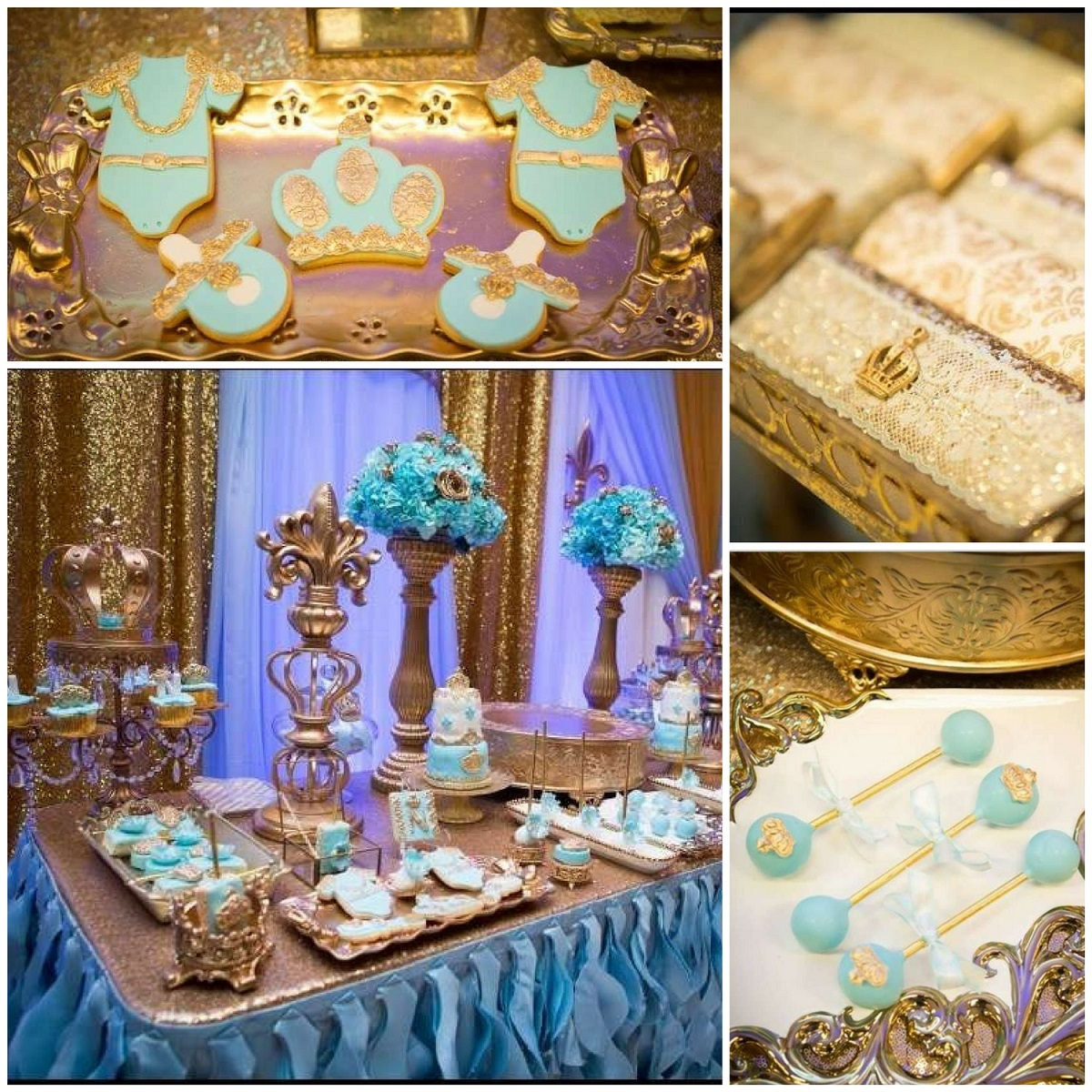 Gold And Blue Royal Baby Shower Baby Shower Ideas