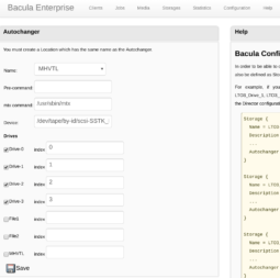 bweb Tape Libraries Graphical Operation - Enterprise Bacula 5