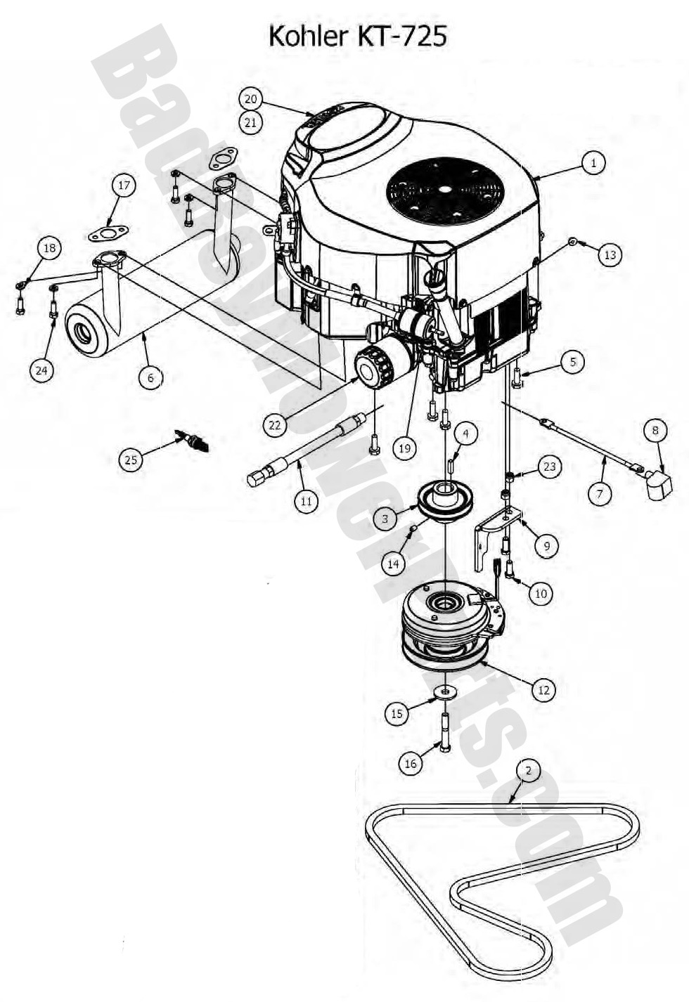 Kohler ch18 wiring diagram furthermore ignition charging group ch440 3118 ch440 in addition generator wiring diagram