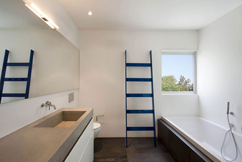 Houten Kolomkast Badkamer : Badkamermeubel met betonnen wastafel goedkope meubels