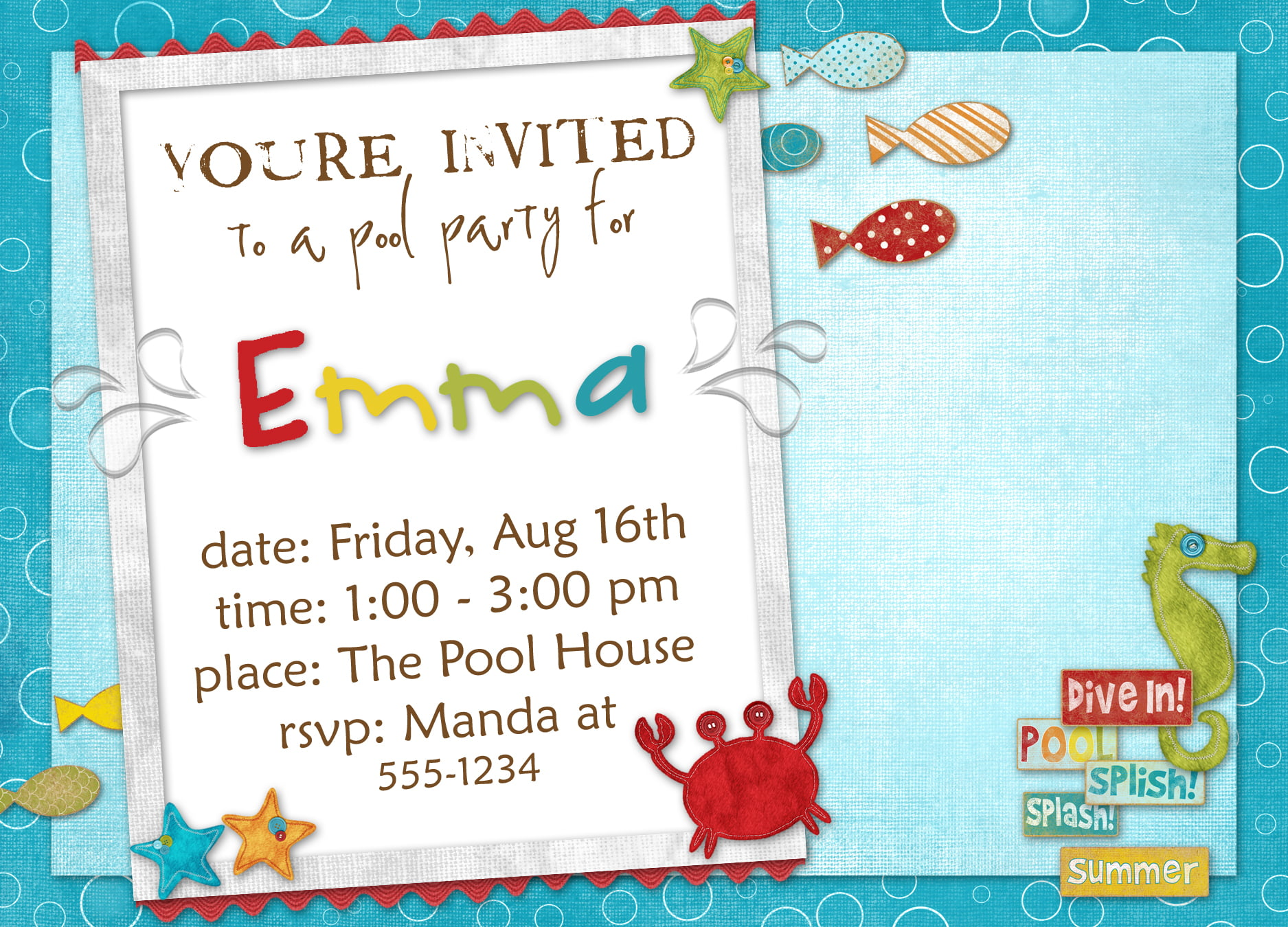 Printable Kids Invitations