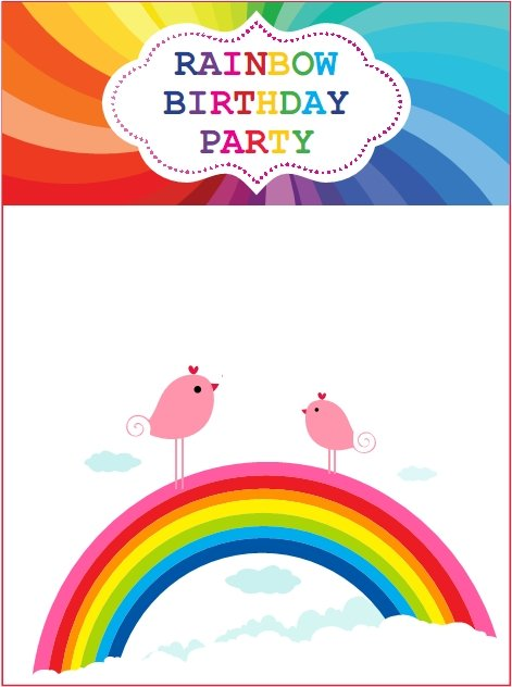 Printable Rainbow Invitations