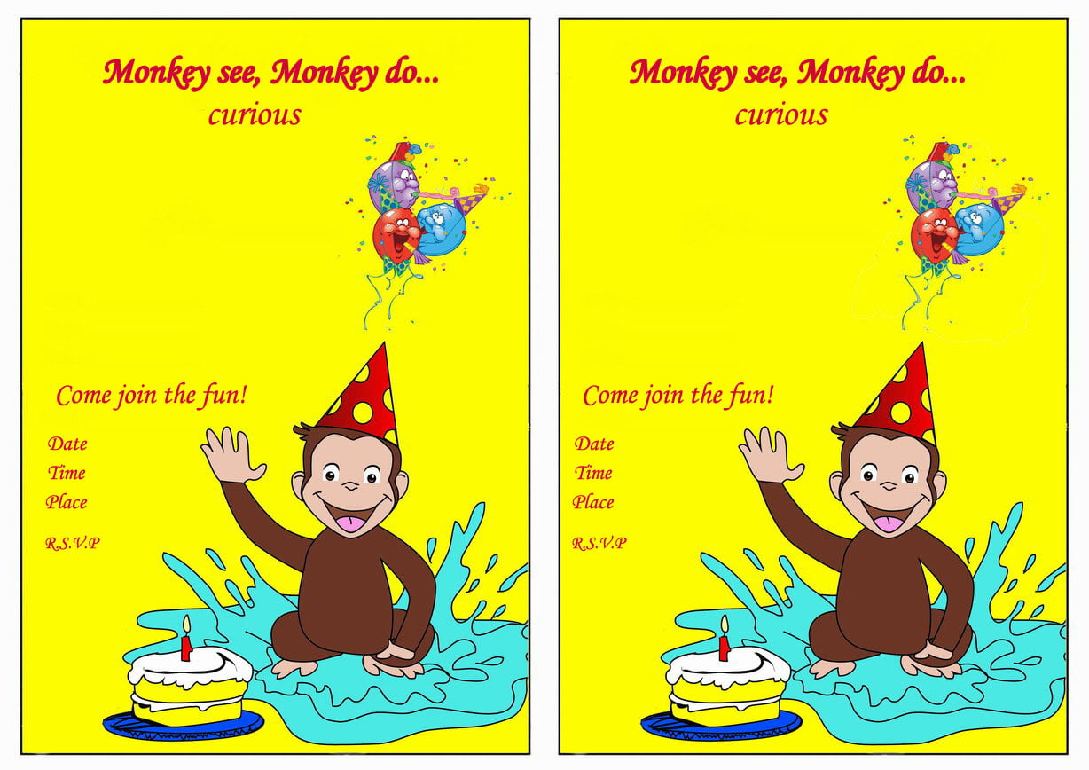Curious George Hat Template