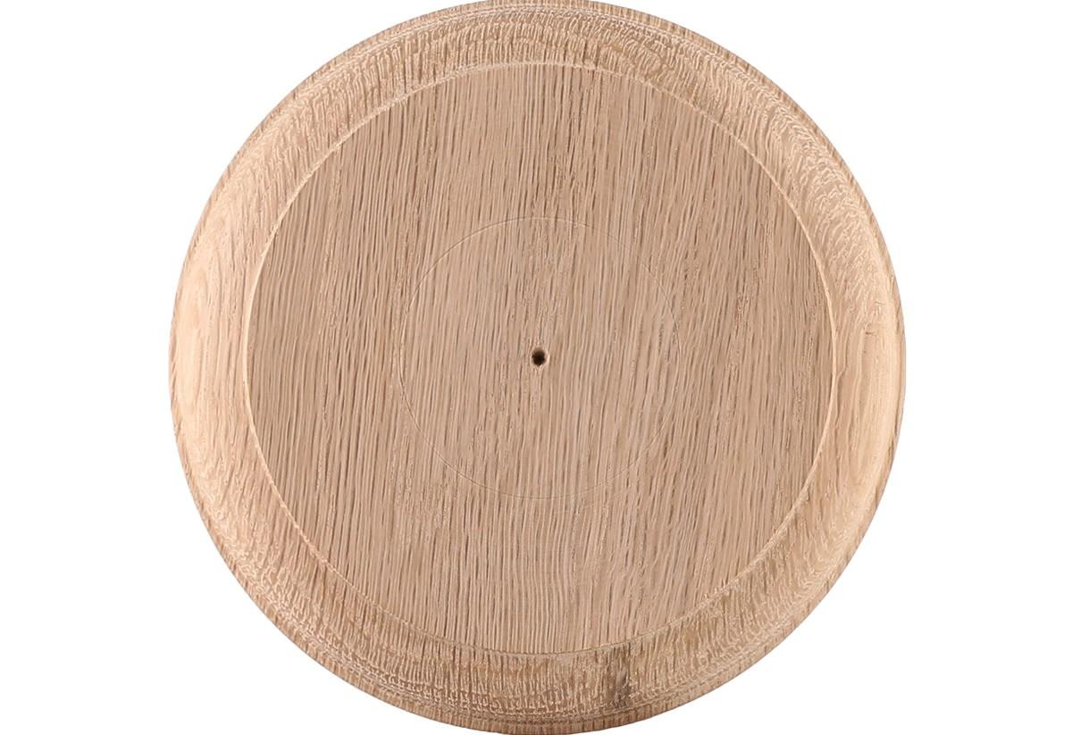 4 9 16 White Oak Round Rosette Lj7026 | White Oak Handrail Round | Flooring | Wood Handrail | Foyer | Mopstick | Staircase