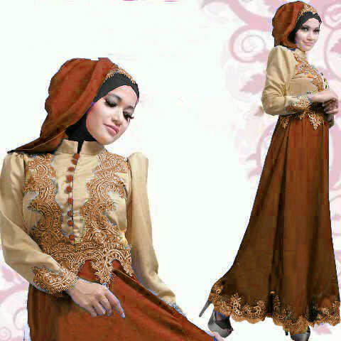 Image Result For Model Gamis Brokat Warna Krem