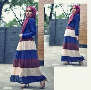 Image Result For Model Gamis Motif Stripe